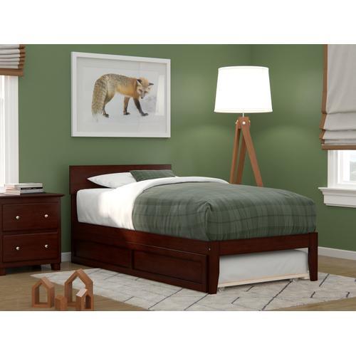 Atlantic Furniture - Boston Twin Bed with Twin Trundle in Walnut