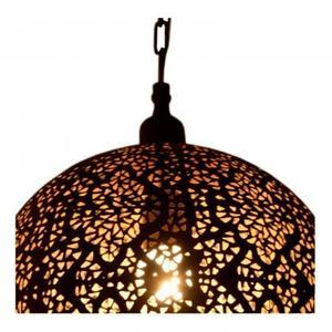 Palace Ball Tikoni Pendant lamp/Iron+textile cable/Black, gold inside/11.8x11.8x