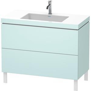 Furniture Washbasin C-bonded With Vanity Floorstanding, Light Blue Matte (decor)
