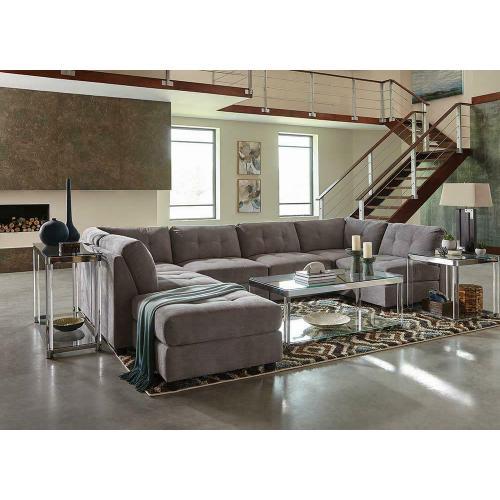 Claude Grey Armless Chair