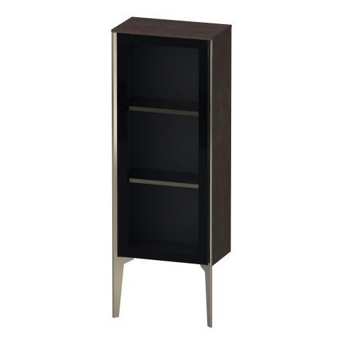 Product Image - Semi-tall Cabinet With Mirror Door Floorstanding, Brushed Dark Oak (real Wood Veneer)