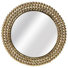 See Details - This antique gold mirror will stylishly enhance your space. Featuring a modern loft aesthetic, it is hand crafted from iron, mdf, mirrored glass.
