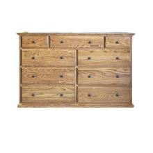 See Details - Forest Designs Traditional Nine Drawer Tall Dresser: 60W x 40H x 18D