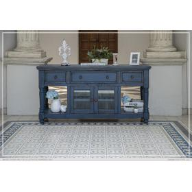 """See Details - 70"""" TV Stand, w/3 Drawers & 2 Doors, in Dark Blue Finish"""