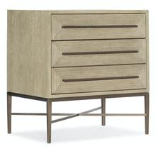 Bedroom Cascade Three-Drawer Nightstand