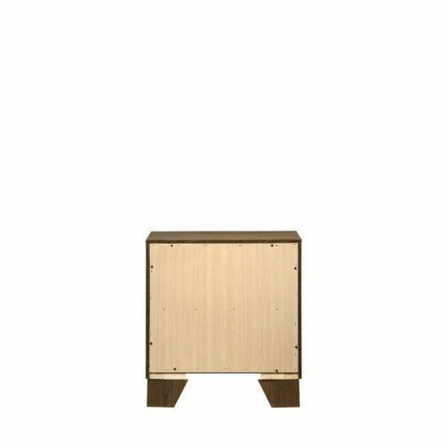 ACME Miquell Nightstand - 28053 - Transitional - Veneer (Paper, LVB), PB, MDF, Chipboard - Oak