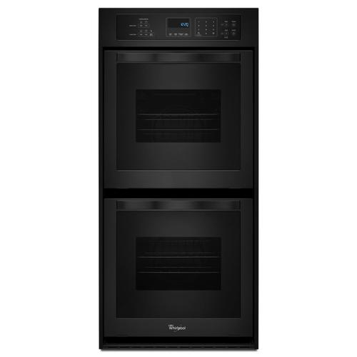 Gallery - 6.2 Cu. Ft. Double Wall Oven with High-Heat Self-Cleaning System Black