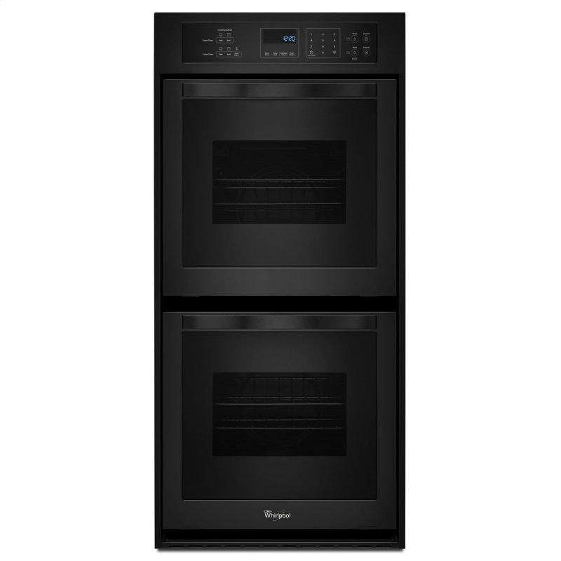 6.2 Cu. Ft. Double Wall Oven with High-Heat Self-Cleaning System Black