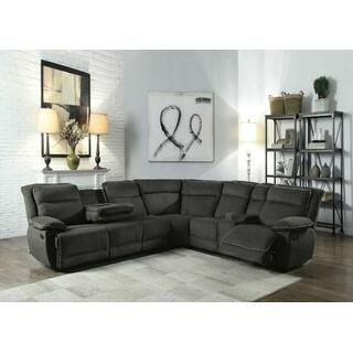 ACME Felipe Sectional Sofa (Motion) - 53320 - Gray Fabric