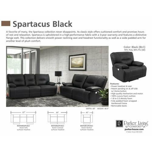Parker House - SPARTACUS - BLACK Power Recliner