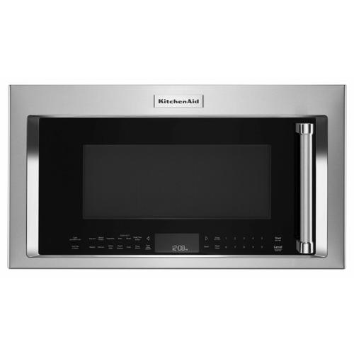 """KitchenAid - 30"""" 1000-Watt Microwave Hood Combination with Convection Cooking - PrintShield Stainless"""