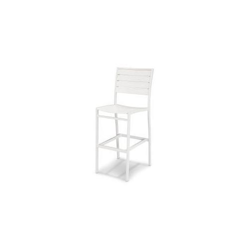 Polywood Furnishings - Eurou2122 Bar Side Chair in Satin White / White