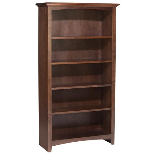 """Whittier Wood - CAF 60""""H x 30""""W McKenzie Alder Bookcase"""
