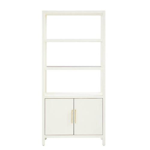 Panavista Archetype Bookcase - Pearl
