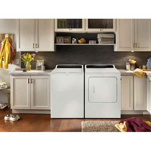 7.0 cu.ft Top Load HE Electric Dryer with AccuDry , Intuitive Touch Controls White