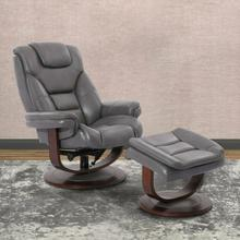 MONARCH - ICE Manual Reclining Swivel Chair and Ottoman