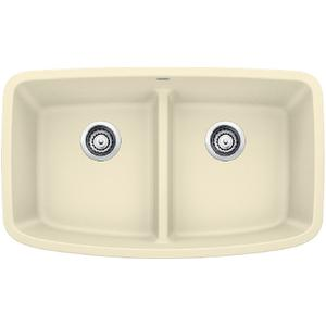 Valea® Equal Double Bowl With Low-divide - Biscuit