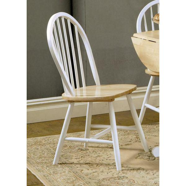 See Details - Country Two-tone Natural Wood Dining Chair