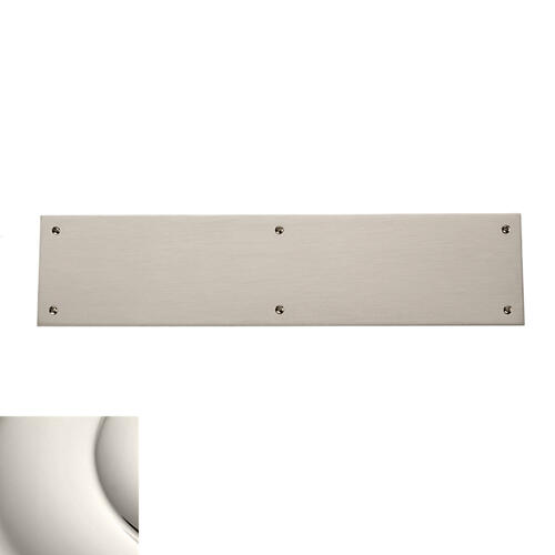 Polished Nickel Square Edge Push Plate