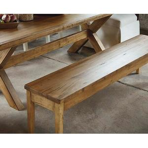 "Bench*Made Maple Live Edge 70"" Hearthside Bench"