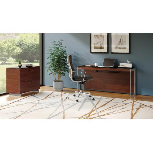 BDI Furniture - Sequel 20 6102 Console/Laptop Desk in Chocolate Walnut Satin Nickel