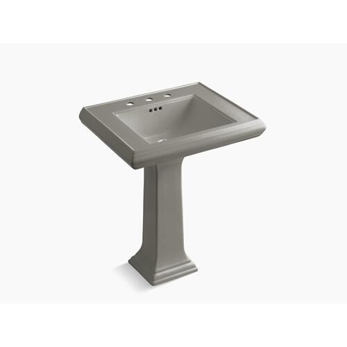 "Cashmere Classic 27"" Pedestal Bathroom Sink With 8"" Widespread Faucet Holes"