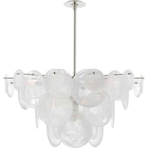 AERIN Loire 9 Light 37 inch Polished Nickel Chandelier Ceiling Light, Large