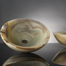 See Details - Polished Beveled Rim Sink Multi Color Onyx