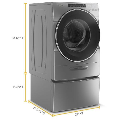 Whirlpool - 4.3 cu. ft. Closet-Depth Front Load Washer with Load & Go™ XL Dispenser