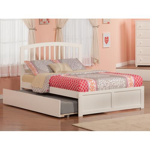 Atlantic Furniture - Richmond Full Flat Panel Foot Board with Urban Trundle White