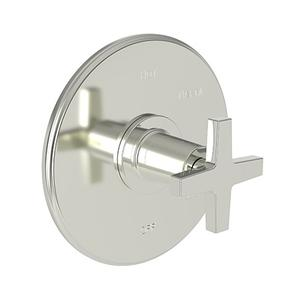 Polished Nickel - Natural Balanced Pressure Shower Trim Plate with Handle. Less showerhead, arm and flange.