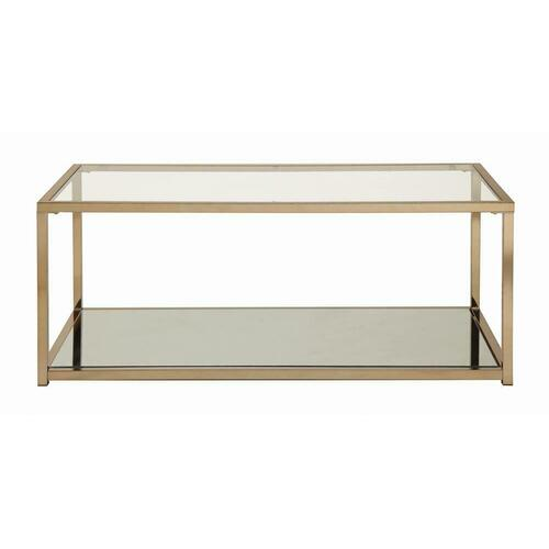 Calantha Modern Chocolate Chrome Coffee Table
