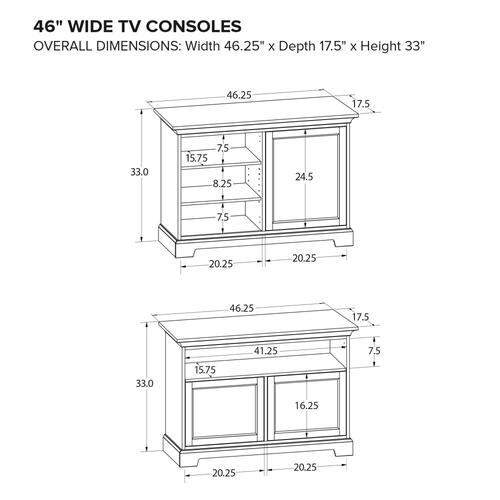 Howard Miller Custom TV Console TS46K