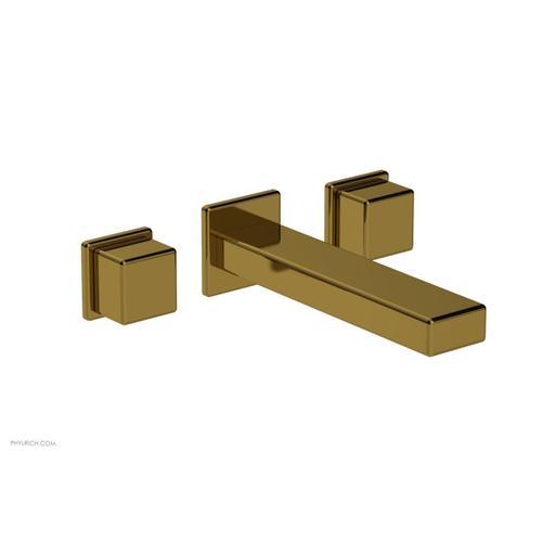 MIX Wall Lavatory Set - Cube Handles 290-14 - French Brass
