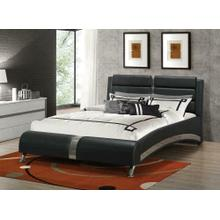 View Product - Havering Contemporary Black and White Upholstered Eastern King Bed