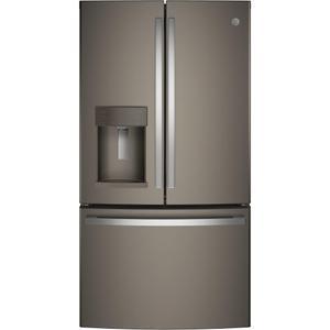 GE® 27.7 Cu. Ft. French-Door Refrigerator with Door In Door - FINGERPRINT RESISTANT SLATE