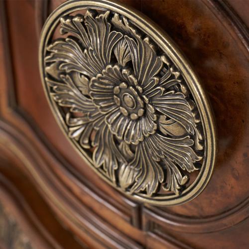 Bedside Chest & Decorative Mirror (2 Pc)