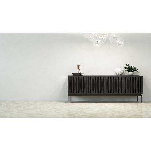 BDI Furniture - Elements 8779 Console Storage Console in Tempo Doors Charcoal Stained Ash