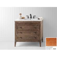 """Laurel 36"""" Bathroom Vanity Cabinet Base in Vintage Honey"""