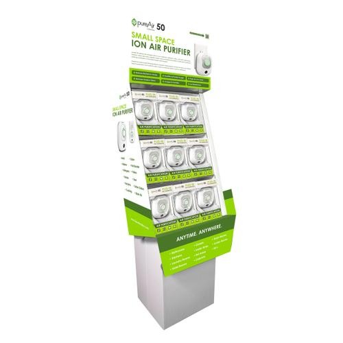 Greentech Environmental - GreenTech - pureAir 50 Floor Display with Merchandise