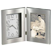 Howard Miller Lewiston Silver-Finish Picture Frame Clock 645677