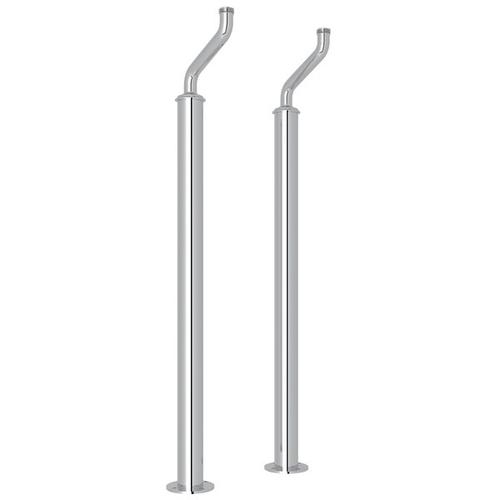 Polished Chrome Perrin & Rowe Pair Of Floor Pillar Legs Or Supply Unions