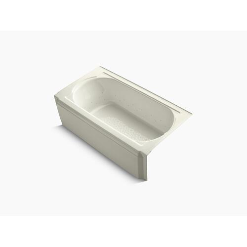 "Biscuit 60"" X 34"" Alcove Bubblemassage Air Bath With Biscuit Airjet Color Finish and Right-hand Drain"