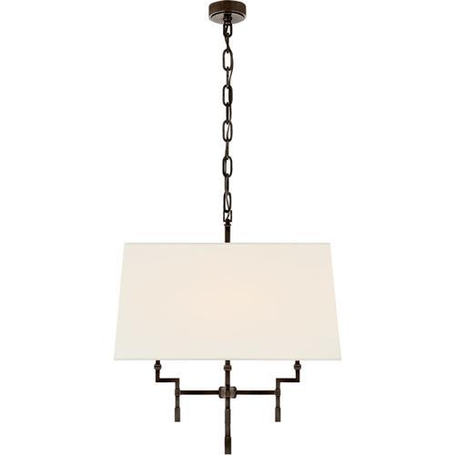 Visual Comfort - Alexa Hampton Jane 4 Light 24 inch Gun Metal Hanging Shade Ceiling Light, Medium