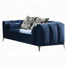 ACME Hellebore Loveseat w/4 Pillows - 50436 - Blue Velvet