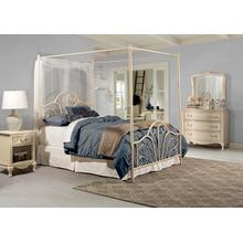 View Product - Dover Bed Set - Full - W/canopy & Legs - Cream Finish