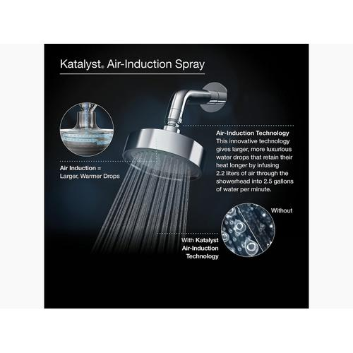 "Polished Chrome 8"" Rainhead With Katalyst Air-induction Technology, 2.5 Gpm"