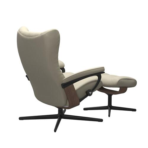 Stressless By Ekornes - Stressless® Wing (L) Cross Chair with Ottoman