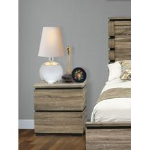 Savona Night Stand in Antique Gray Finish