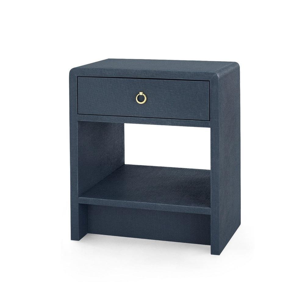 See Details - Benjamin 1-Drawer Side Table, Navy Blue